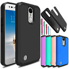For LG Aristo 2/2 Plus/Rebel 3/Fortune 2/Phoenix 3 Shockproof Hybrid Case Cover