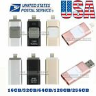 32 64 128 256GB OTG Device USB i Flash Drive Storage Memory Stick For iPhone PC