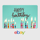 eBay Digital Gift Card - Happy Birthday Candles -  Fast email delivery фото