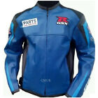 QMUK Suzuki GSX Motorbike Leather Jacket - CE Approved Full Protection