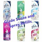8 x GLADE SENSE AND SPRAY AIR FRESHENER REFILLS - choose your fragrance!