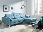 SALE NEW CANDI FABRIC CORNER SOFA WITH BED AND STORAGE