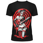 HEARTLESS HARLEY QUINN PLAYER BLACK T SHIRT RED SUICIDE GOTHIC SQUAD JOKER COMIC