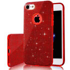 Hybrid Glitter Sparkle Bling Hard PC Clear Silicone Case Cover for iPhone 7 6s