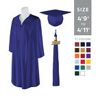 "Standard Matte Graduation Cap and Gown with Matching 2017 Tassel - Size  4'9""-4'"