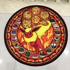 Pokemon Go Flareon Circle Anime Cute Floor Rug Carpet Room Doormat Non-slip Mat