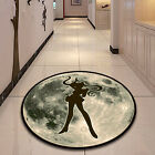 Sailor Moon Anime Velboa Circle Floor Rug Carpet Room Doormat Non-slip Mat #1