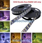 5M 600LED 120led/M Double Row 5050 RGBW RGB White Flex LED Strip light Black PCB