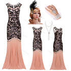 Flapper 1920s Dress Gatsby Long Prom Fringe Sequin Party 20s Bridesmaid Clubwear