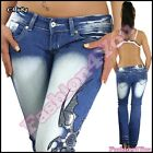 Women's Jeans Tattoo Bootcut Crazy Age Casual Ladies Trousers Size 6,8,10,12,14