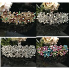 Hot USA seller beautiful silver tone rhinestone crystal hair clip barrette 1212