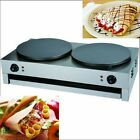Crepe Pancake Waffle Machine Maker Double Head Electric For Restaurant Donut cheap
