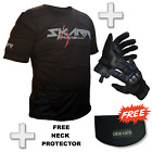 Skarr Paintball Body Armour + Spearhead Gloves in BLACK + FREE Neck Protector