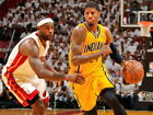 Paul George vs LeBron Indiana Pacers Dribbling Huge Giant Print POSTER Affiche on eBay