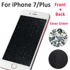 Front & Back Silver Diamond Sparkle Glitter Screen Protector For iPhone 7 7 Plus