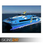BLUE SHIP (AC017) POSTER - Photo Picture Poster Print Art A0 A1 A2 A3 A4