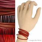 Red Leather Cord Wrap Bracelet Custom Length to 72 inches Handmade USA necklace