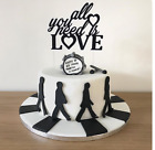 Sparkling Glitter Cake Topper PERSONALISED Varied Options Wedding - Anniversary