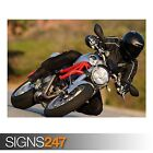 DUCATI RACER (AC527) BIKE POSTER - Photo Picture Poster Print Art A0 A1 A2 A3 A4