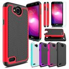 Hybrid Shockproof Rugged Hard Armor Phone Case Cover For LG X Charge /Fiesta LTE