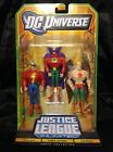 DC Universe Justice League Unlimited Golden Age Lantern Hawkman Flash 3 Pack