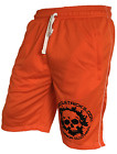 BODY BUILDING SHORTS WORKOUT GYM CLOTHING crossfit  orange shorts.!