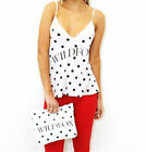 NWT Wildfox Couture Polka Dot Cami & Clutch Gift Set XS,S, or M