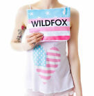 NWT Wildfox Couture American Flag Heart Cami & Clutch Gift Set XS,S, or M