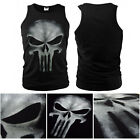 Cosplay Tops Sports The Punisher Skull Ghost Slim Vest Shirt T-shirt S~2XL YF107