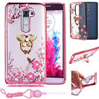 Luxury Bling Metal Stand Slim Soft Silicone Phone Case Cover For LG G stylo 2