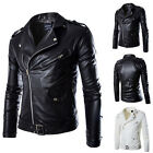 New Fashion Style Mens Motorcycle Retro Biker PU Leather Jacket Outwear Coat Top