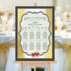 Personalised Wedding Table Seating Plan Names Numbers N155 Large A1 A2 A3 Print