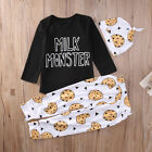 Baby Boys Milk Monster Top Bottoms & Hat 3 piece Outfit Set Casual.Party. 455