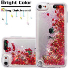 Apple iPod Touch 5 6 Gen Bling Hybrid Liquid Glitter Rubber Protector Case Cover