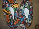 SUPER HEROS PRINT BOWLING SHOE COVERS-MED, LG OR XL