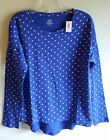 NWT Old Navy Girls 8 10-12 14 Long Sleeve Shirt 'ULTRAVIOLET' Polka Dot  #104417