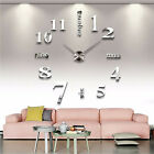 Modern DIY 3D Mirror Surface Sticker Large Wall Clock Home Room Decor Luxury US