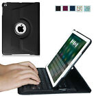 For New iPad 9.7'' 2017 / Air 2 / Air Case Rotating Cover w/ Built-in Keyboard