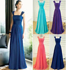 Long Chiffon Formal Evening Party Prom Gown Ball Bridesmaid Dress Size 6-18