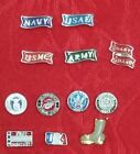 MILITARY FLOATING CHARM - ARMY - NAVY - AIR FORCE - MARINES - COAST GUARD - USA