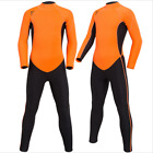 Youth Kids Orange Full 2mm Wetsuit Surf Juniors Teenage Diving Suit Water Sports