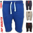 Mens Summer Plain Fleece Jersey Jogging Shorts Sports Sweat Jogger Running Gym