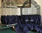 Handcrafted Navy Blue Fabric Bird Cage Seed Catcher Skirt Guard or Cover XS-XXL