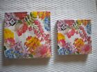 Mesafina Napkins FLOWER THEME Cocktail or Luncheon Size 3 ply 20 count ~ Germany