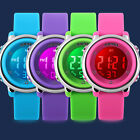 Fashion Jelly Color LED Waterproof Sport Electronic Wrist Watch for Kid Boy Girl image