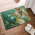 Fishing in the Tiger Polyester Fabric Bathroom Shower Curtain Liner Bath Mat Set