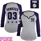 VICTORIA'S SECRET PINK BLING NEW YORK YANKEES TEE-MEDIUM- NWT
