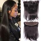 """13x2"""" Brazilian Straight Lace Frontal Women's Remy Virgin Human Hair Closures 12"""