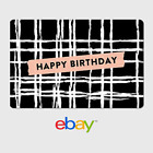 eBay Digital Gift Card - Happy Birthday Plaid -  Fast email delivery