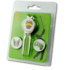 Magnetic Golf Divot Tool with Cristal Golf Ball Markers (1tools+3markers)